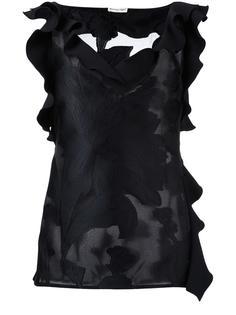 V-neck ruffled blouse Emanuel Ungaro