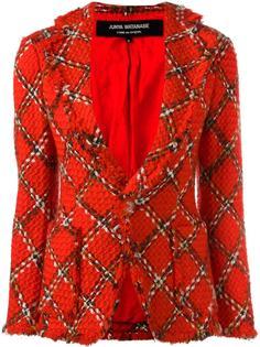 boucle knit tartan fitted jacket Junya Watanabe Comme Des Garçons Vintage