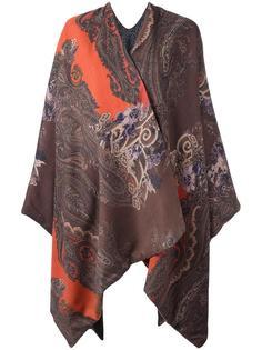 patterned cape Ermanno Gallamini
