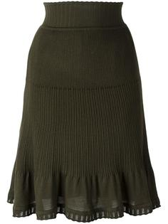 pleated detailing skirt Alberta Ferretti
