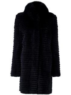 padded trim collar coat Yves Salomon