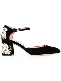 floral embroidery pumps Rochas