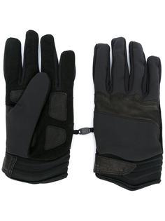 перчатки с панельным дизайном Stone Island