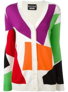 block pattern cardigan Boutique Moschino