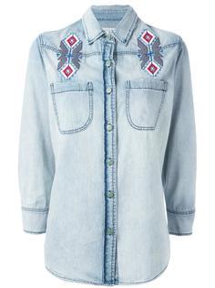 джинсовая рубашка с вышивкой Sandrine Rose
