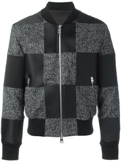 куртка бомбер с лоскутным дизайном Ami Alexandre Mattiussi
