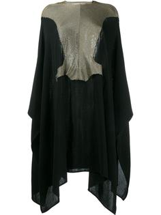 open back knitted cape dress Esteban Cortazar