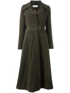 длинное пальто в стиле милитари Weili Zheng