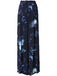 широкие брюки с принтом роз Bianca Spender