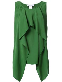 блузка без рукавов с драпировкой Bianca Spender