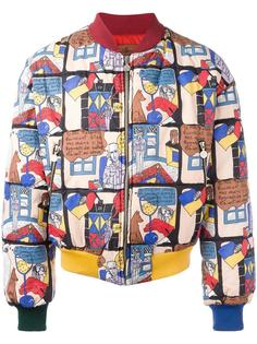 cartoon printed bomber jacket Jc De Castelbajac Vintage