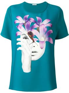 футболка с принтом лица P.A.R.O.S.H.