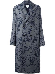 'Robot' jacquard coat Mira Mikati