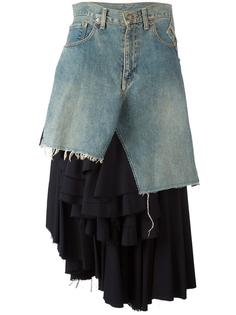 asymmetric layered ruffles skirt Junya Watanabe Comme Des Garçons Vintage