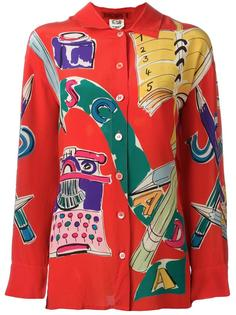 pop print shirt Escada Vintage