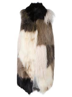panelled sleeveless coat Giorgio Brato