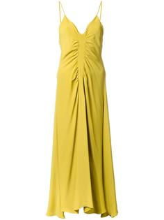 платье со сборкой и расклешенным подолом Bianca Spender