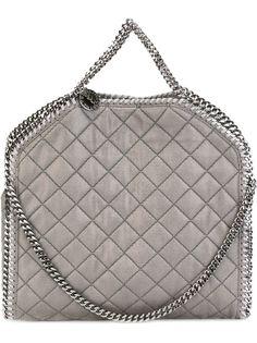сумка-тоут 'Falabella' в рельефную клетку Stella McCartney