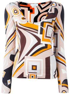 geometric printed top Emilio Pucci Vintage