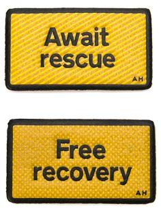 набор кожаных нашивок 'Free Recovery'  Anya Hindmarch