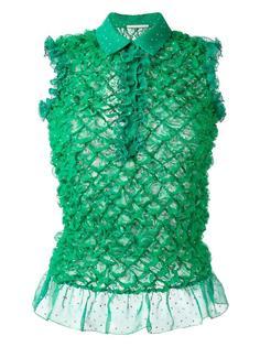 фактурная блузка с оборками Marco De Vincenzo