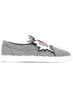 checked slip-on sneakers Mira Mikati