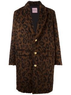 пальто с леопардовым принтом  Palm Angels