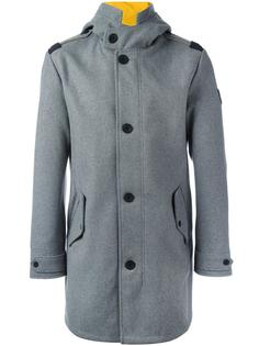 buttoned hooded coat Ea7 Emporio Armani