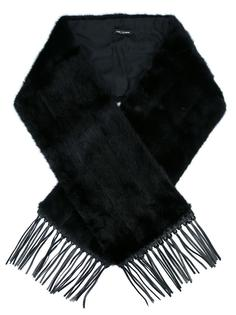 fringed edge oversized scarf Yves Salomon