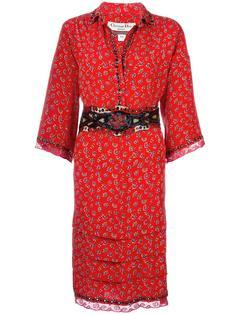 floral tiered dress Christian Dior Vintage