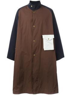 объемное пальто дизайна колор-блок Marni