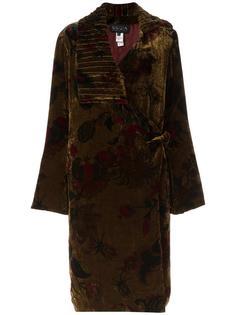 floral print velvet coat Krizia Vintage