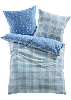 Постельное белье Мильва, линон (синий) Bonprix