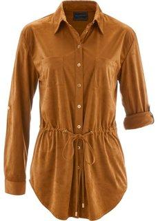 Рубашка из искусственной замши (ягодный) Bonprix