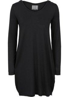 Платье с капюшоном (серый меланж) Bonprix