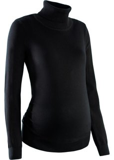 Пуловер для беременных с высоким воротником (темно-бордовый) Bonprix