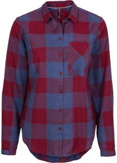 Клетчатая рубашка (черный/кремовый) Bonprix