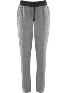 Трикотажные брюки (антрацитовый меланж) Bonprix