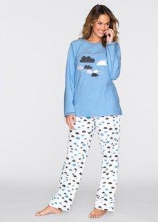 Флисовая пижама (нежно-голубой/цвет белой шерст) Bonprix