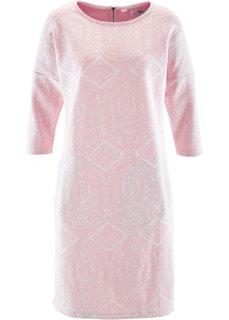 Трикотажное платье с рукавом 3/4 (цвет белой шерсти/серебристый ) Bonprix