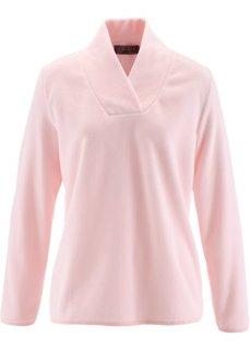 Флисовый пуловер (черный) Bonprix