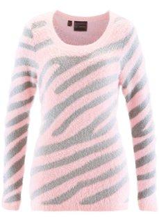 Пуловер (цвет белой шерсти/серебристый ) Bonprix