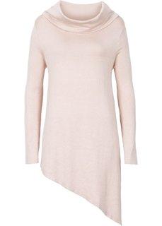 Пуловер с удлиненными боковыми краями (серый меланж) Bonprix