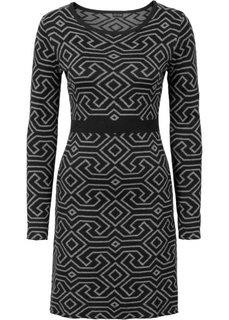 Вязаное платье (кленово-красный/серый меланж с) Bonprix