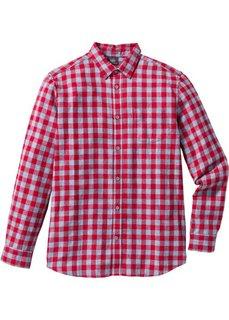 Клетчатая рубашка Regular Fit с длинным рукавом (изумрудный) Bonprix