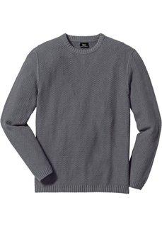 Пуловер Regular Fit (темно-красный) Bonprix