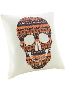 Чехол для подушки Череп (кремовый/оранжевый) Bonprix