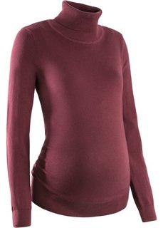Пуловер для беременных с высоким воротником (черный) Bonprix