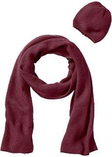Длинный шарф + шапочка (2 изд.) (кремовый) Bonprix