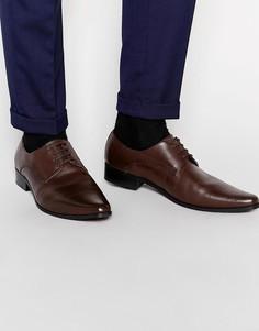Кожаные туфли дерби Frank Wright - Коричневый